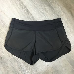 Lululemon Black Run Speed Shorts 2
